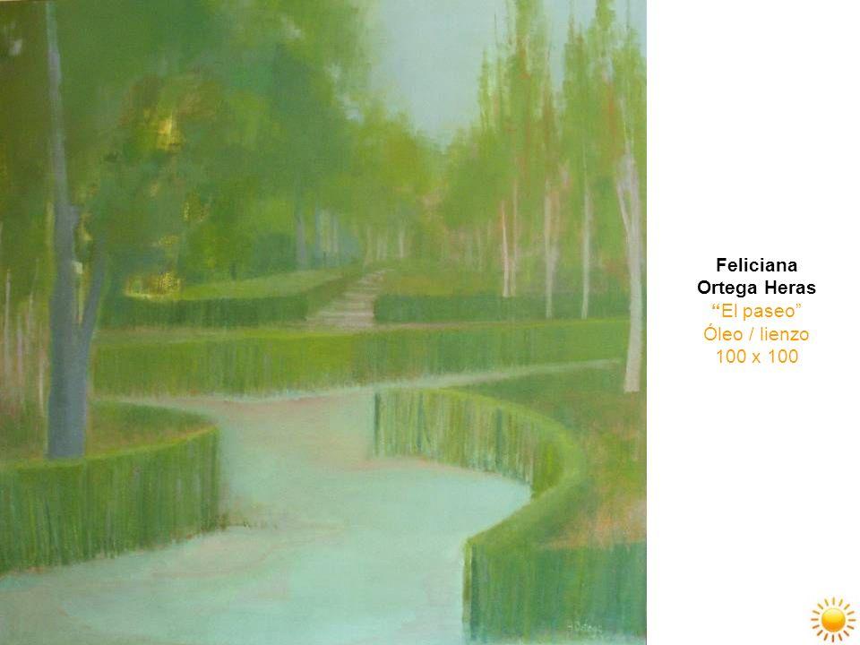 Feliciana Ortega Heras El paseo Óleo / lienzo 100 x 100