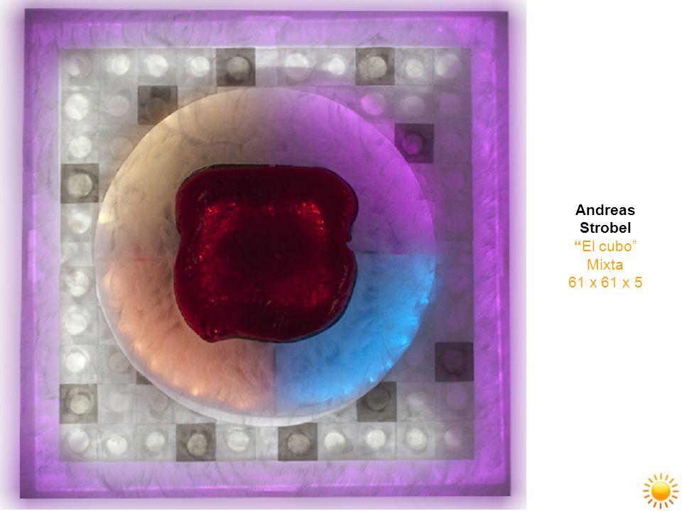 Andreas Strobel El cubo Mixta 61 x 61 x 5