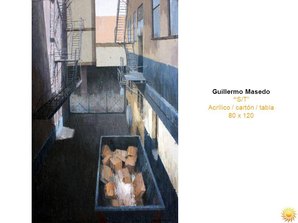 Guillermo Masedo S/T Acrílico / cartón / tabla 80 x 120