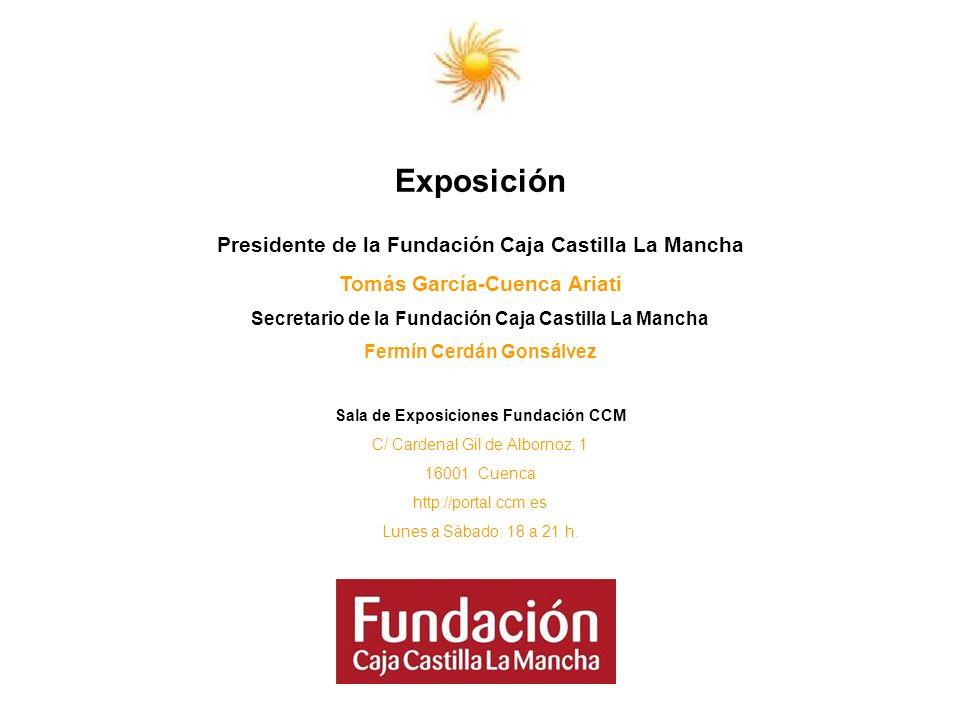 Exposición Presidente de la Fundación Caja Castilla La Mancha Tomás García-Cuenca Ariati Secretario de la Fundación Caja Castilla La Mancha Fermín Cer