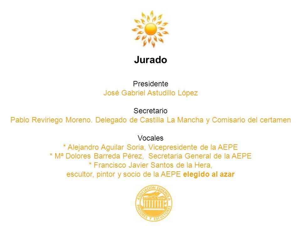 Jurado Presidente José Gabriel Astudillo López Secretario Pablo Reviriego Moreno. Delegado de Castilla La Mancha y Comisario del certamen Vocales * Al