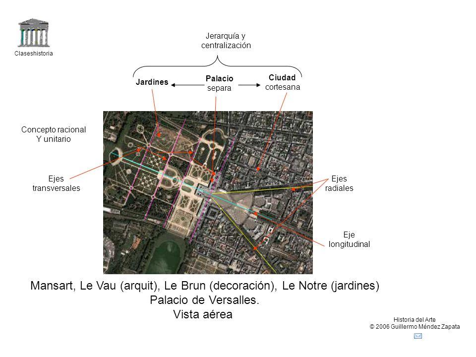 Claseshistoria Historia del Arte © 2006 Guillermo Méndez Zapata Mansart, Le Brun (decoración), Palacio de Versalles.