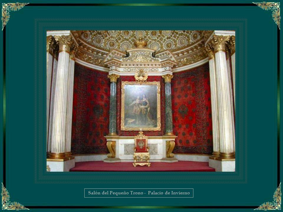 Trono en el Salón San Jorge - Palacio de Invierno