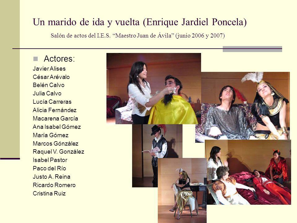 Las cartas boca abajo (A. Buero Vallejo) Salón de actos del I.E.S. Maestro Juan de Ávila (junio 2006) Actores: Alicia Fernández María Gómez Carlos Lóp