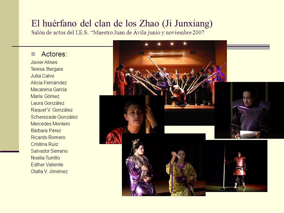 El huérfano del clan de los Zhao (Ji Junxiang) Salón de actos del I.E.S.