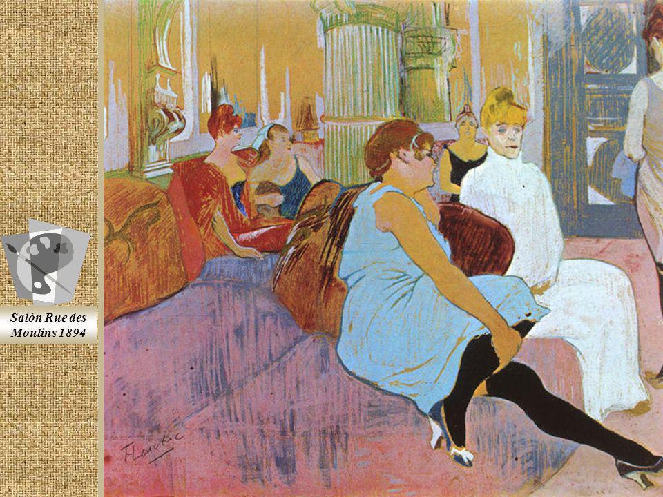 Fotografia policromada En 1881 Toulouse-Lautrec se traslada a París. Decide ser pintor, con el apoyo de su tío Charles y unos pintores amigos de la fa