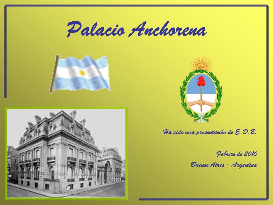 En 1936, el Palacio Anchorena fue adquirido por el Estado para ser sede del Ministerio de Relaciones Exteriores, y pasa a llamarse Palacio San Martín.