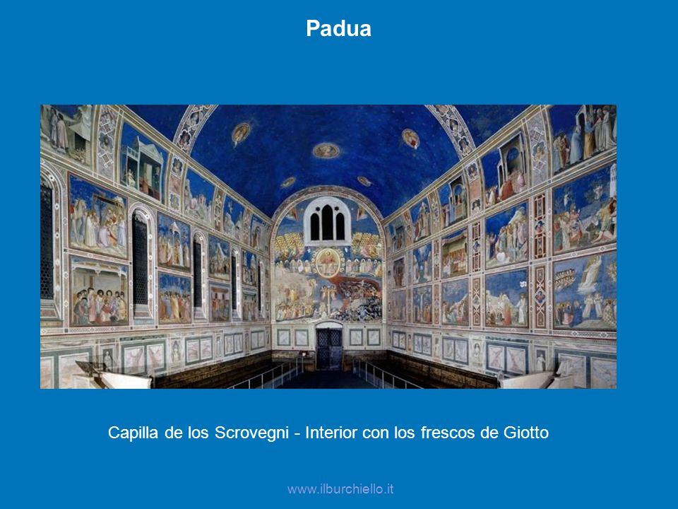 www.ilburchiello.it Padua Capilla de los Scrovegni - Interior con los frescos de Giotto