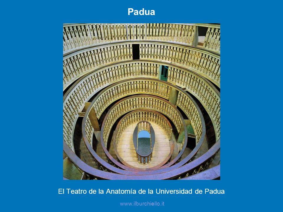 Padua El Teatro de la Anatomía de la Universidad de Padua www.ilburchiello.it