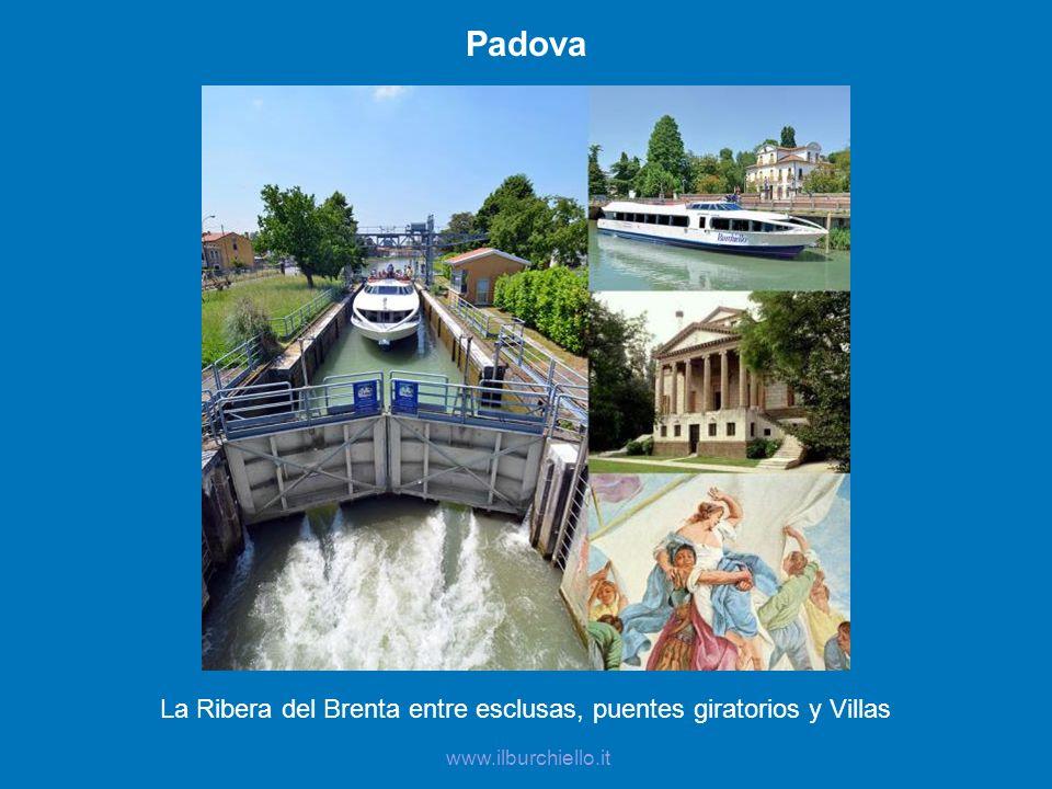 Padova La Ribera del Brenta entre esclusas, puentes giratorios y Villas www.ilburchiello.it