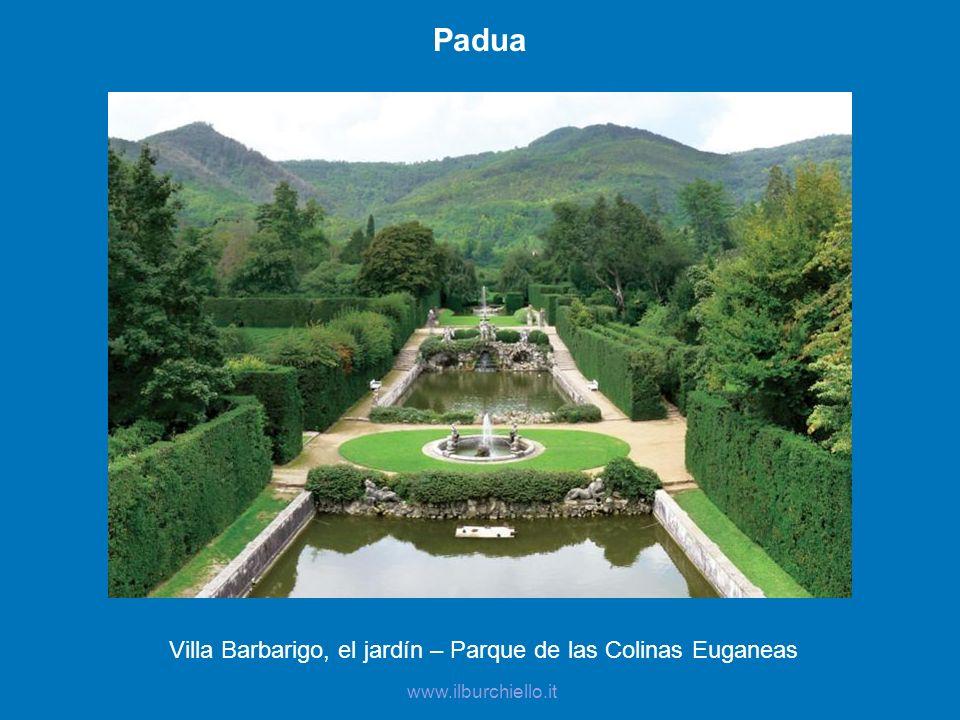 Padua Villa Barbarigo, el jardín – Parque de las Colinas Euganeas www.ilburchiello.it