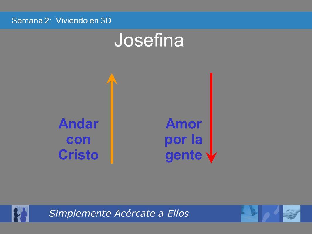 Semana 2: Viviendo en 3D Simplemente Acércate a Ellos Josefina Andar con Cristo Amor por la gente