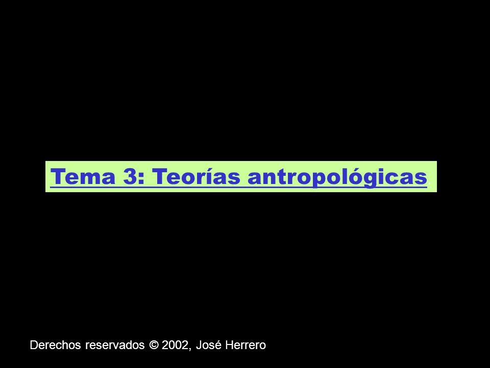 Tema 3: Teorías antropológicas.