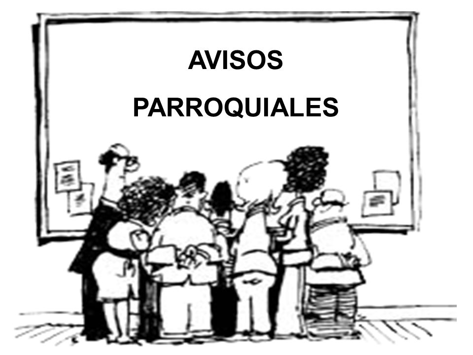 AVISOS PARROQUIALES
