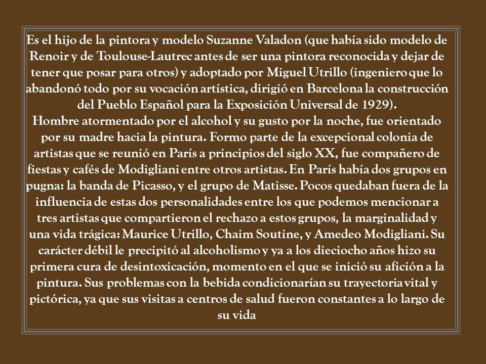 Maurice Utrillo, nacido Maurice Valadon nació à París, el 25 de diciembre de 1883 y murió en Dax el 5 de noviembre de 1955. Es un pintor francés de pr