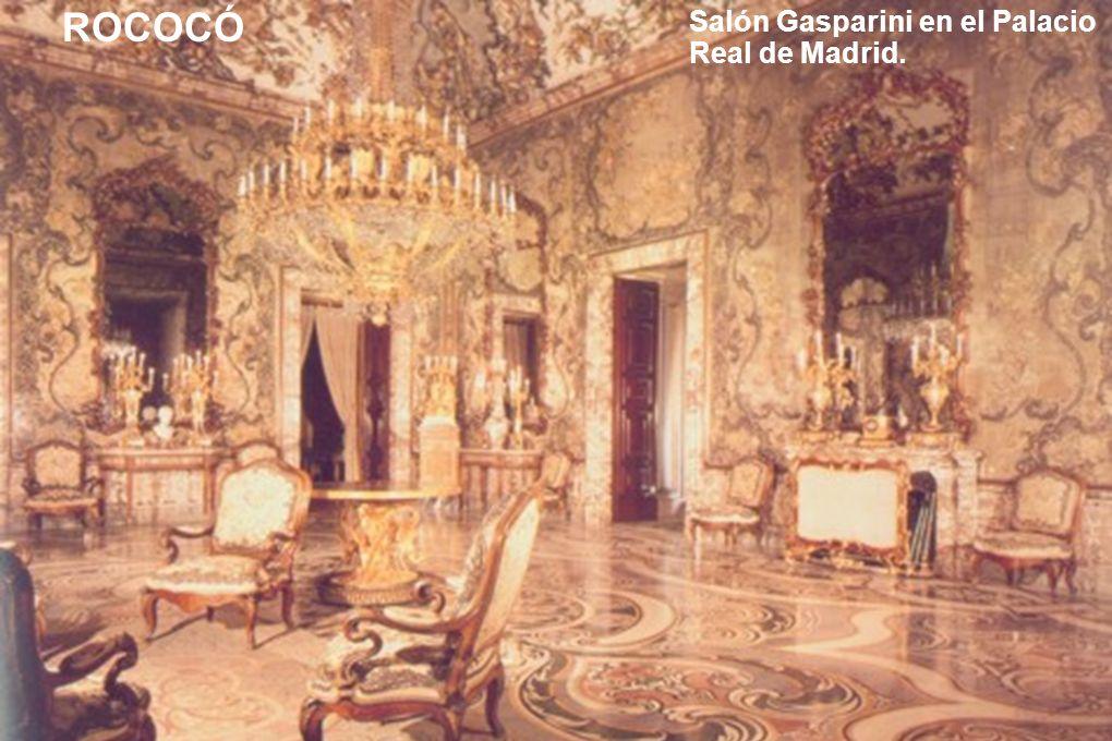 NEOCLASICISMO En este cuadro del pintor francés Jacques Louis David puede ver un espacio interior totalmente distinto del Salón Gasparini.