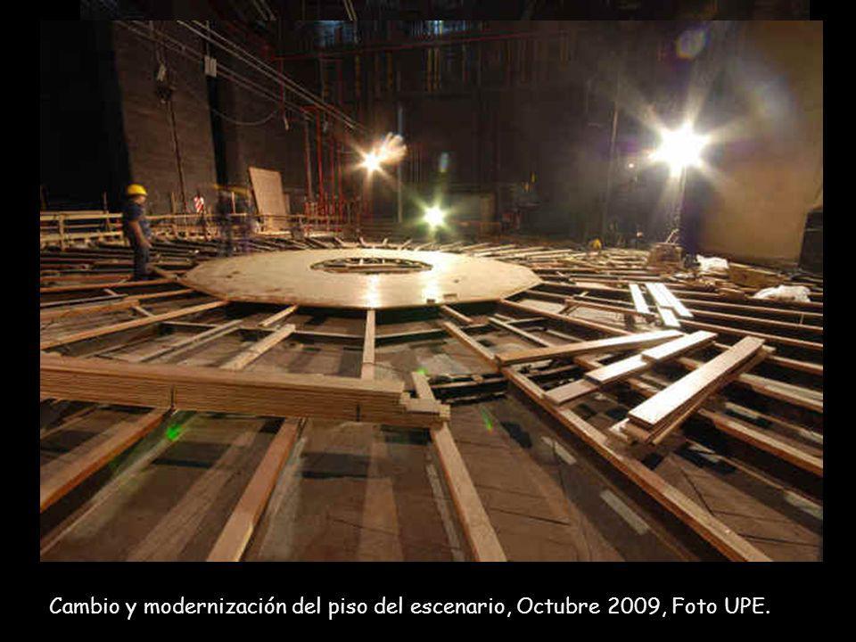 Salón Multipropósito al nivel del tercer subsuelo, será el espacio en dónde se descargará la escenografía proveniente de containers a través de un mon