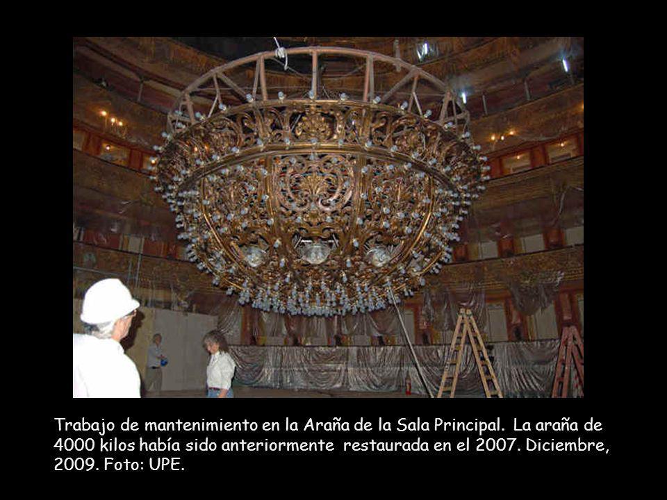 Obra de Actualización Tecnológica en los pisos del Salón Dorado.
