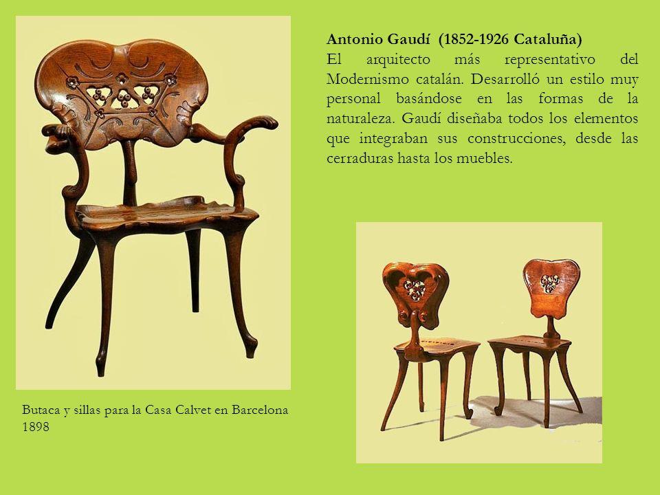 Antonio Gaudí (1852-1926 Cataluña) El arquitecto más representativo del Modernismo catalán.