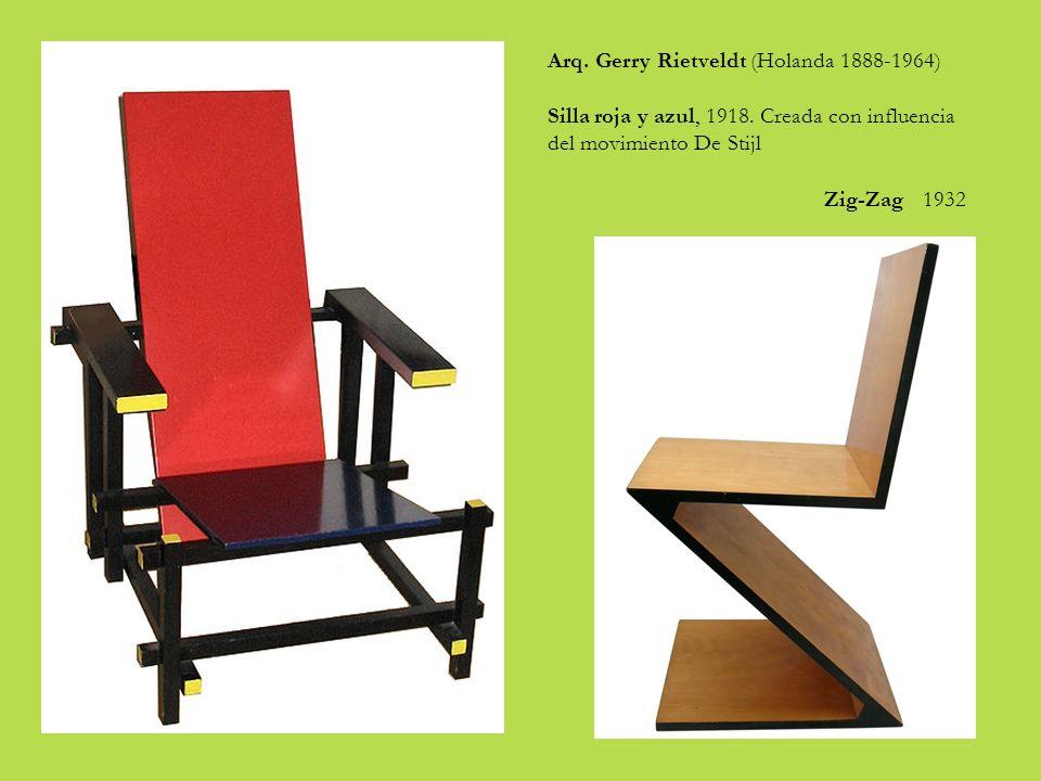 Arq.Gerry Rietveldt (Holanda 1888-1964) Silla roja y azul, 1918.