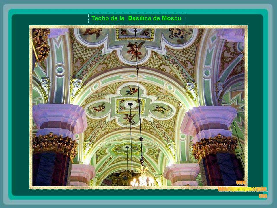 Techo del Palacio Yusupov – San Petersburgo, Rusia El Palacio Yusupova representa una rara combinación de un monumento arquitectónico y un templo de arte.