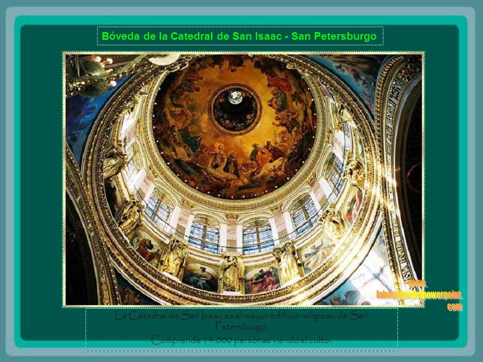 Bóveda de la Catedral de San Isaac - San Petersburgo La Catedral de San Isaac es el mayor edificio religioso de San Petersburgo.