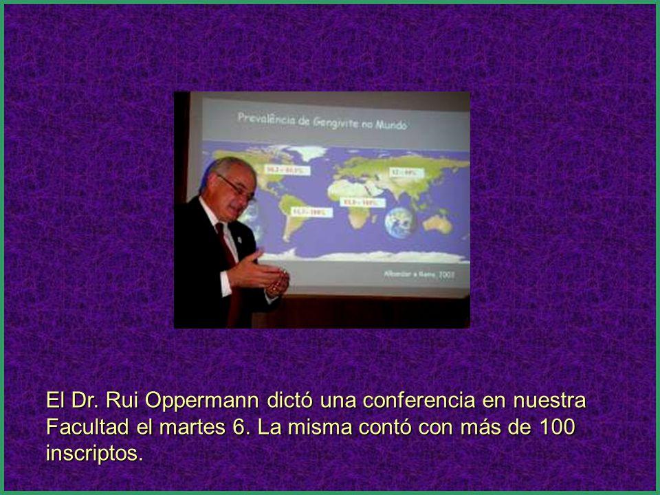 El Dr. Rui Oppermann dictó una conferencia en nuestra Facultad el martes 6. La misma contó con más de 100 inscriptos.