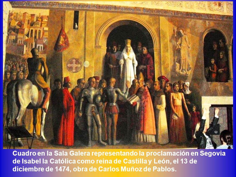 Vidriera representando a Enrique IV en el salón del Trono Vidriera en la sala Galera