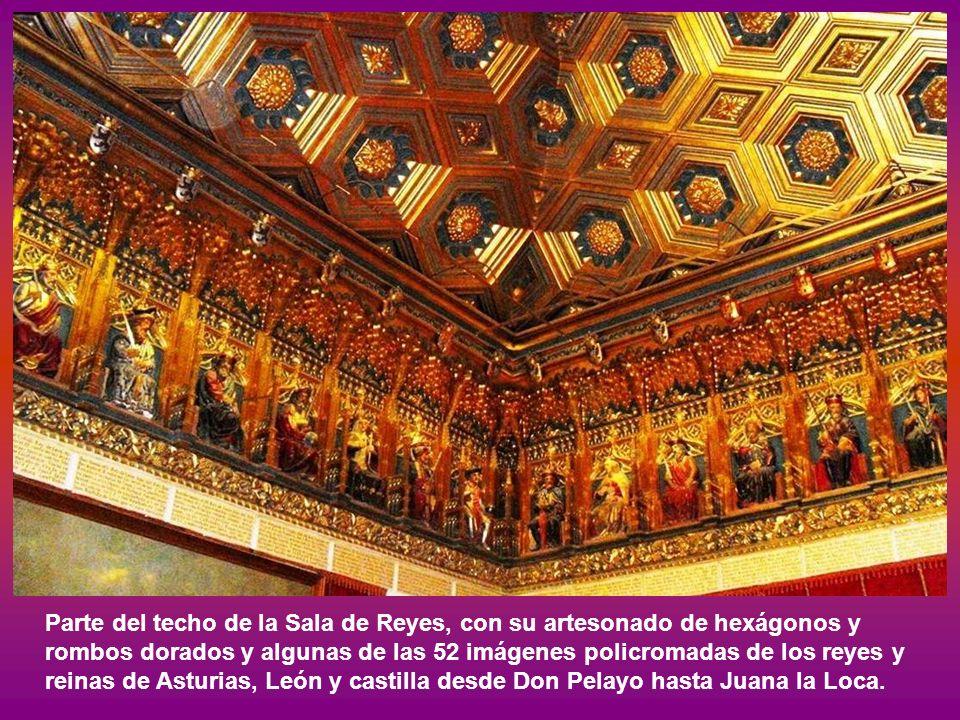 Cuadro en la Sala Galera representando la proclamación en Segovia de Isabel la Católica como reina de Castilla y León, el 13 de diciembre de 1474, obra de Carlos Muñoz de Pablos.