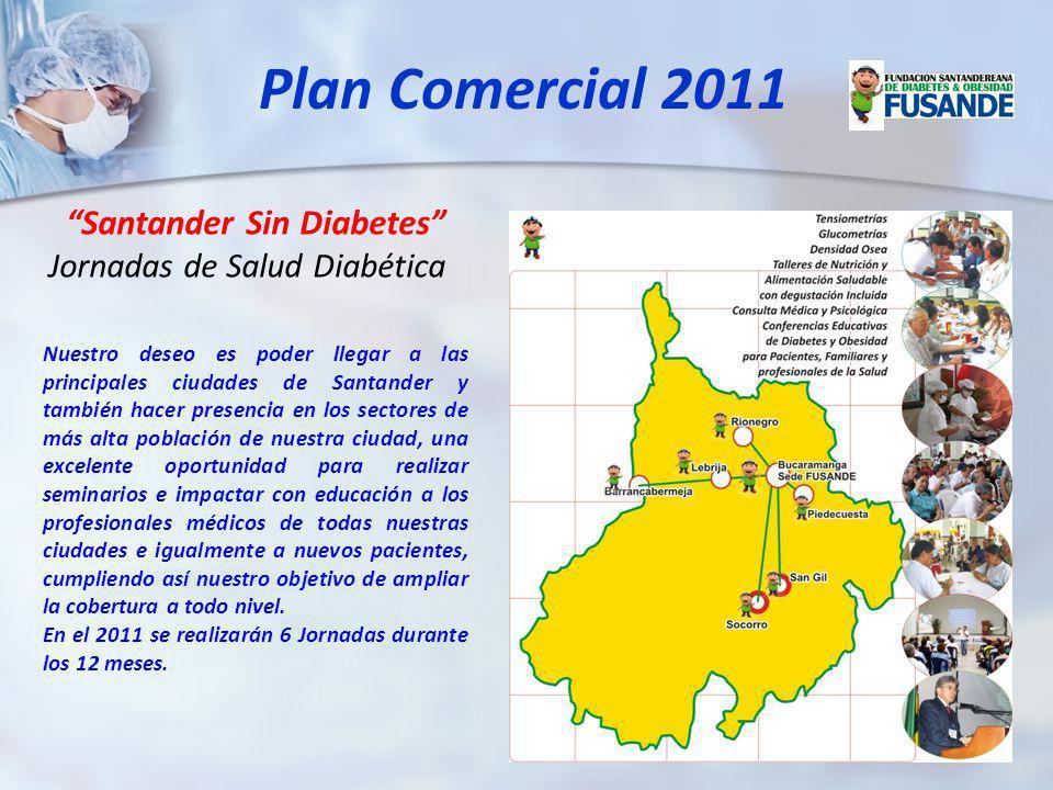 Santander Sin Diabetes Jornadas de Salud Diabética Nuestro deseo es poder llegar a las principales ciudades de Santander y también hacer presencia en