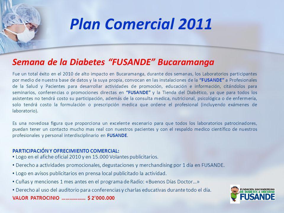 Fue un total éxito en el 2010 de alto impacto en Bucaramanga, durante dos semanas, los Laboratorios participantes por medio de nuestra base de datos y