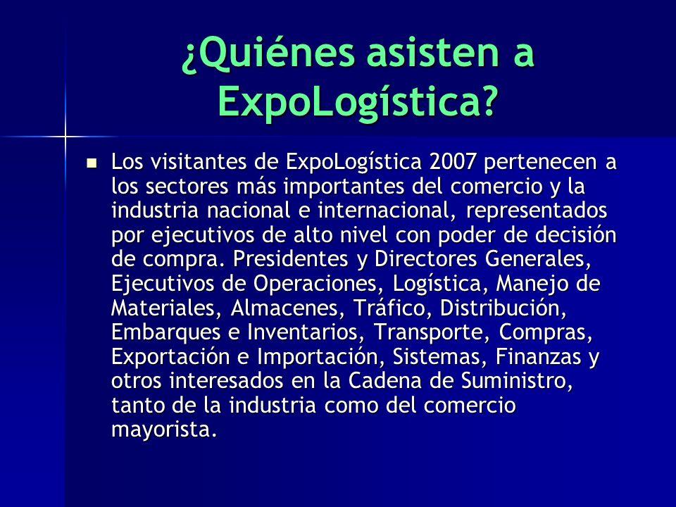 ¿Quiénes asisten a ExpoLogística.