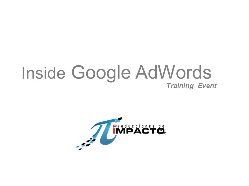 Inside Google AdWords Training Event