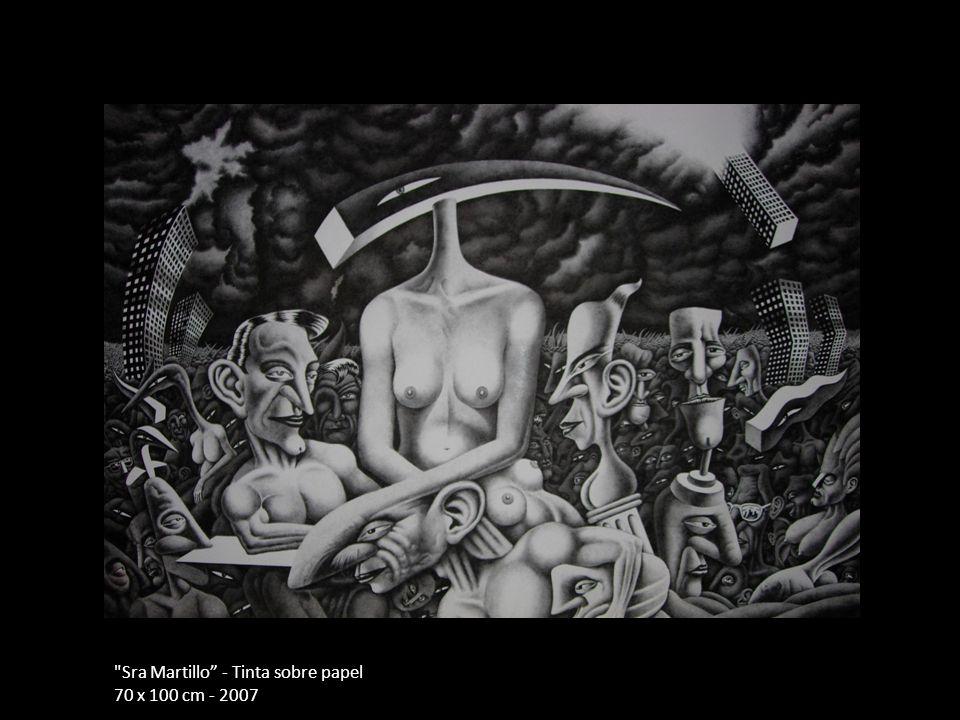 Sra Martillo - Tinta sobre papel 70 x 100 cm - 2007