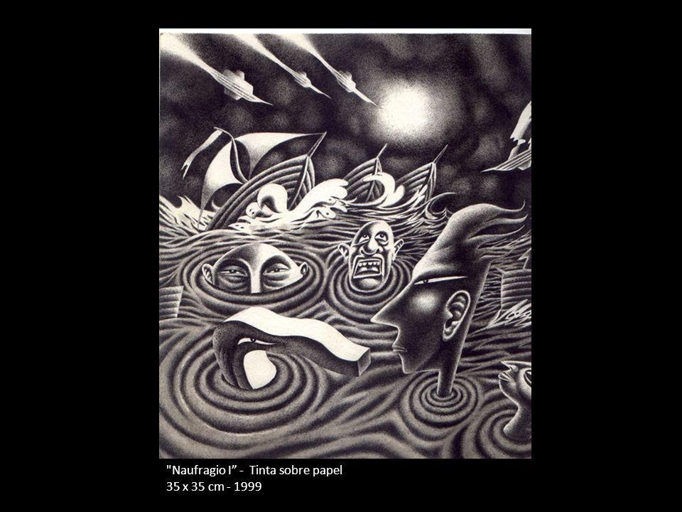 Naufragio I - Tinta sobre papel 35 x 35 cm - 1999