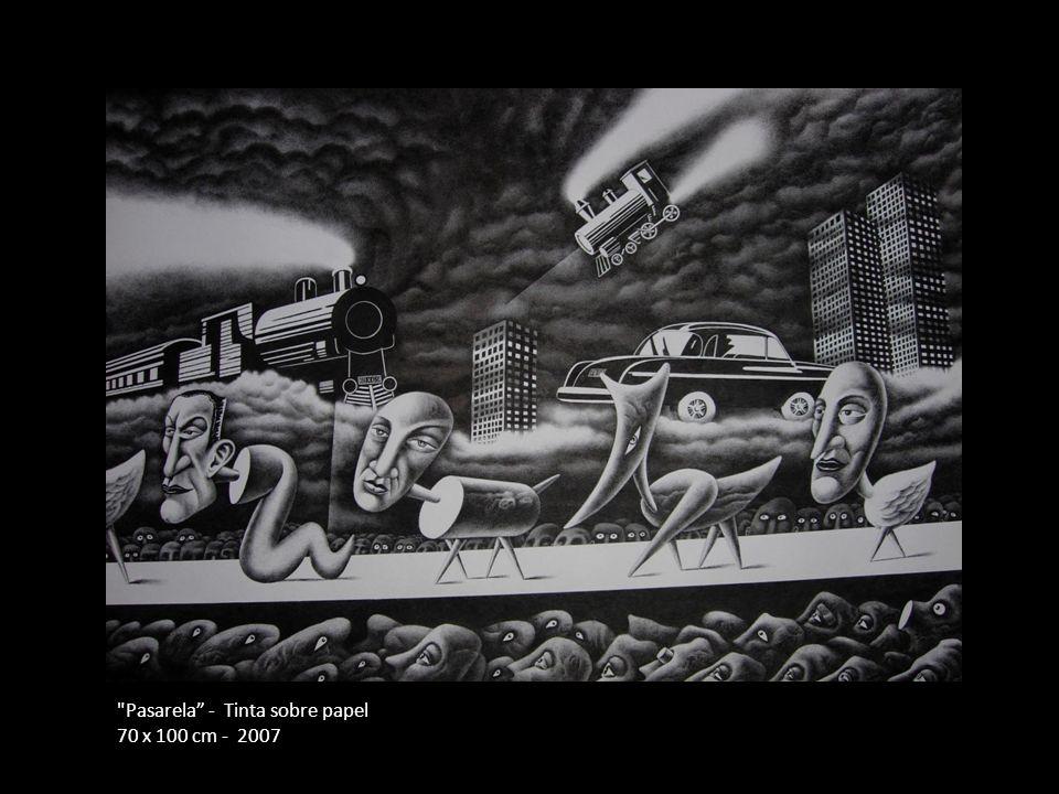 Pasarela - Tinta sobre papel 70 x 100 cm - 2007