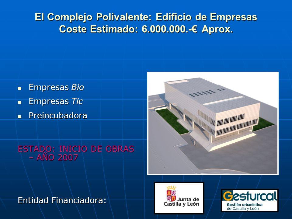 El Complejo Polivalente: Edificio de Empresas Coste Estimado: 6.000.000.- Aprox.