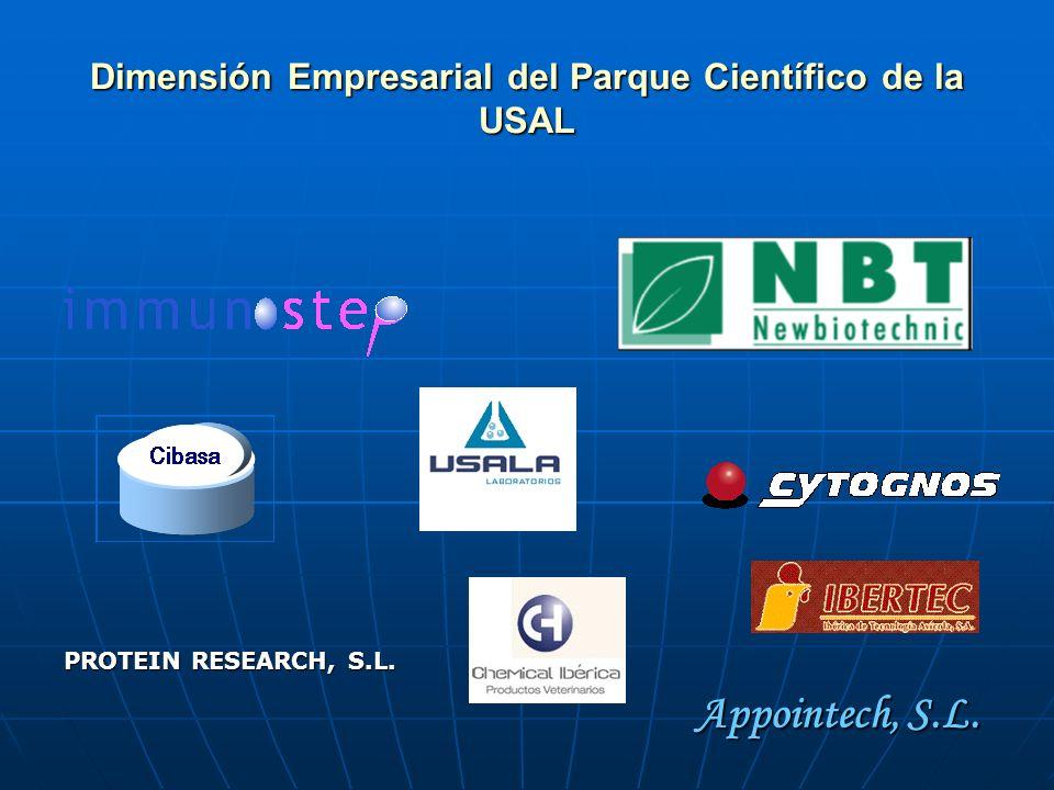 Dimensión Empresarial del Parque Científico de la USAL PROTEIN RESEARCH, S.L. Appointech, S.L.