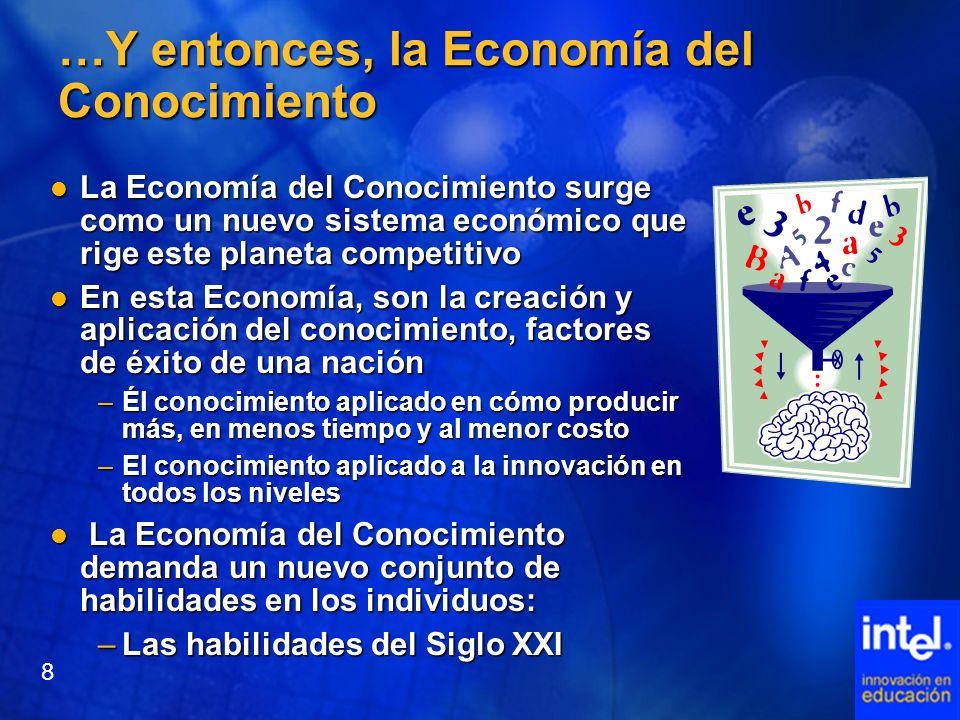 …Y entonces, la Economía del Conocimiento La Economía del Conocimiento surge como un nuevo sistema económico que rige este planeta competitivo La Econ