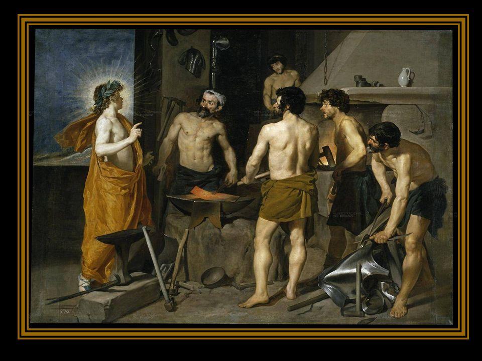 EL TRIUNFO DE BACO O LOS BORRACHOS Es el tratamiento de un tema mitológico cuyo personaje principal es el Dios romano Baco que encarna el vino. Es la