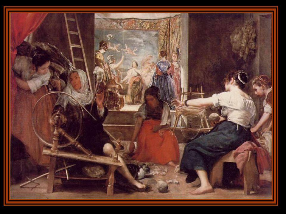 LA FRAGUA DE VULCANO Velázquez vuelve a la mitología y representa el momento en el que Apolo comunica a Vulcano, esposo de Venus, que su mujer le es i