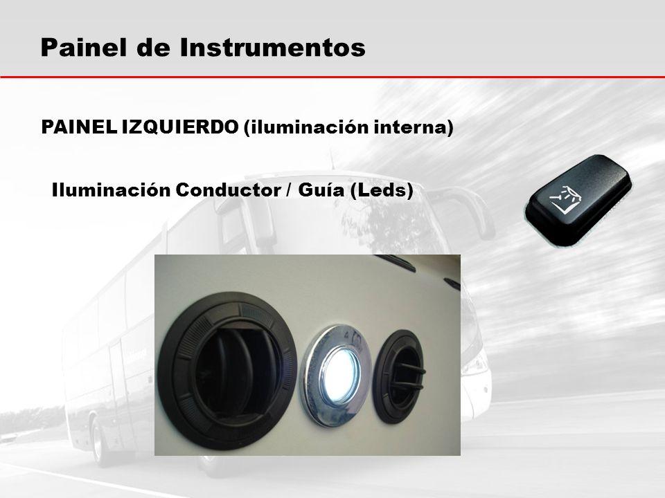 Painel de Instrumentos Iluminación Conductor / Guía (Leds) PAINEL IZQUIERDO (iluminación interna)