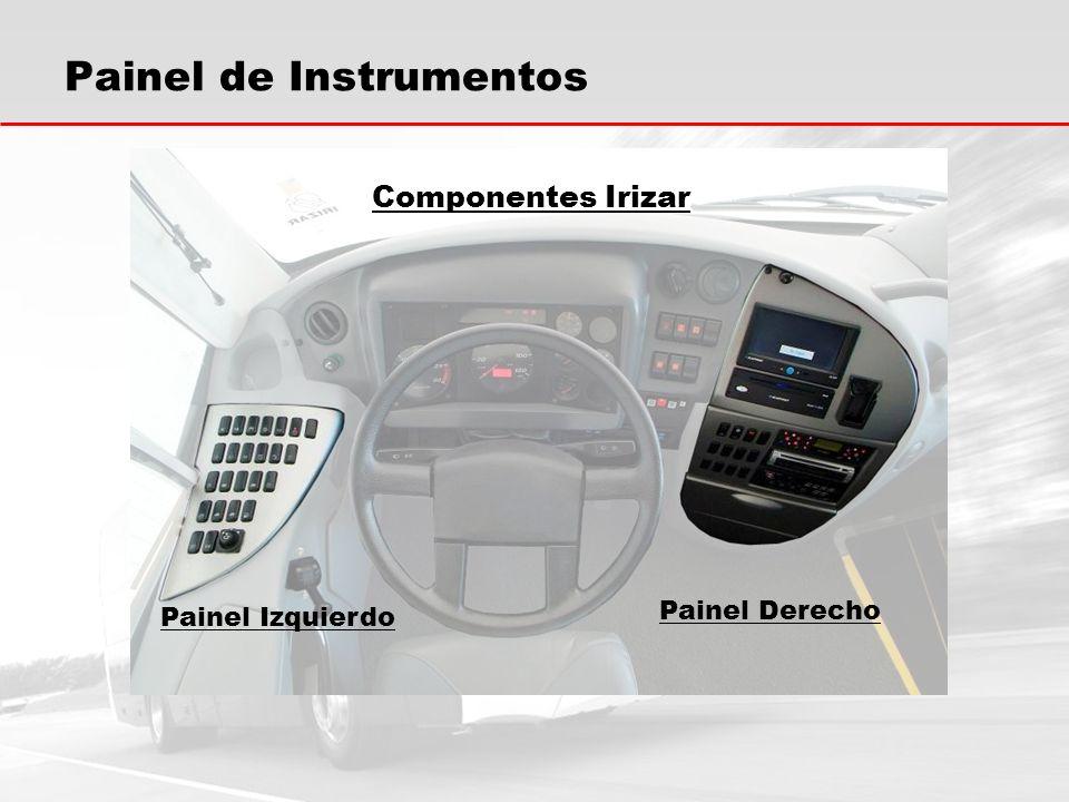 Painel de Instrumentos PAINEL DERECHO Tecla de accionamiento de los puntos de micrófonos en el porta equipajes.