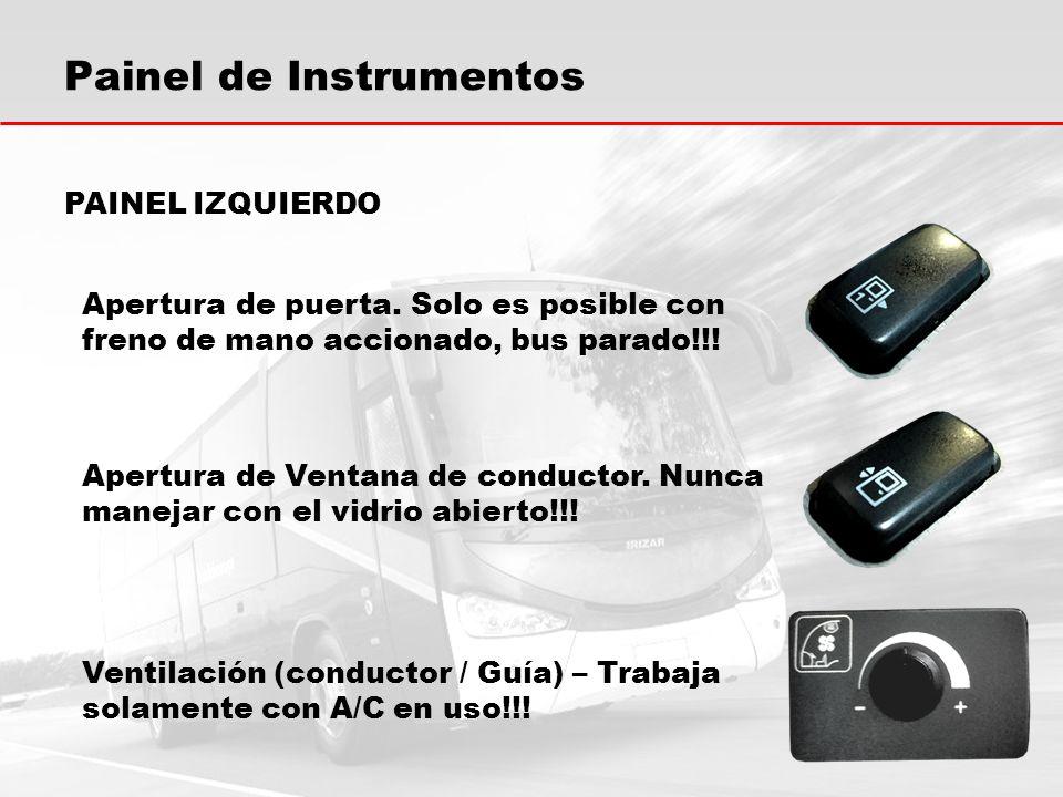 Painel de Instrumentos Alimentación del itinerario.