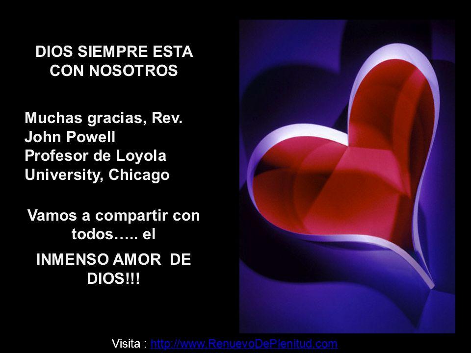 DIOS SIEMPRE ESTA CON NOSOTROS Muchas gracias, Rev.