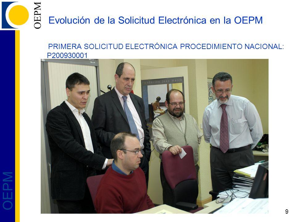 20 OEPM Descripción del Sistema de Solicitud: Uso de la aplicación