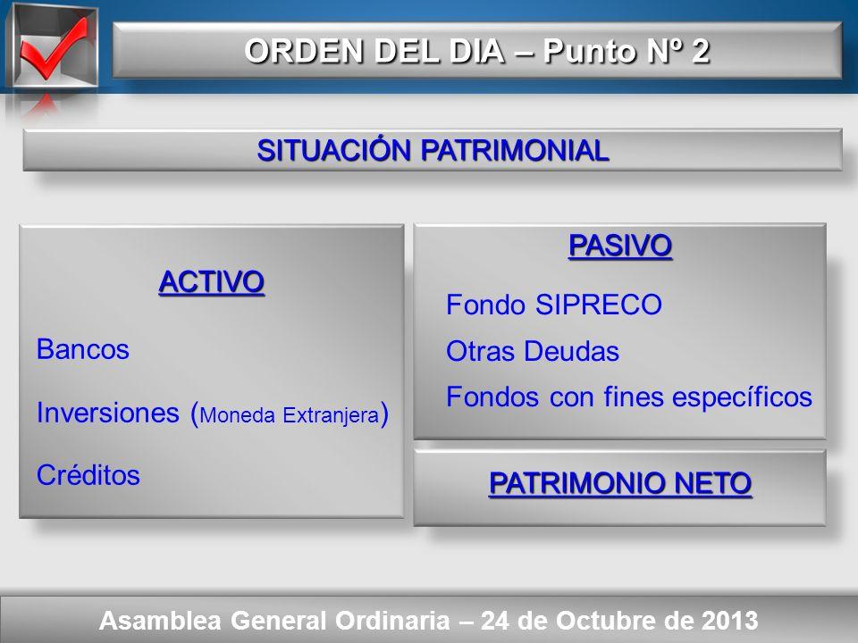 Here comes your footer ORDEN DEL DIA – Punto Nº 2 Asamblea General Ordinaria – 24 de Octubre de 2013 COMENTARIO FINAL El Consejo Directivo de la Asoci