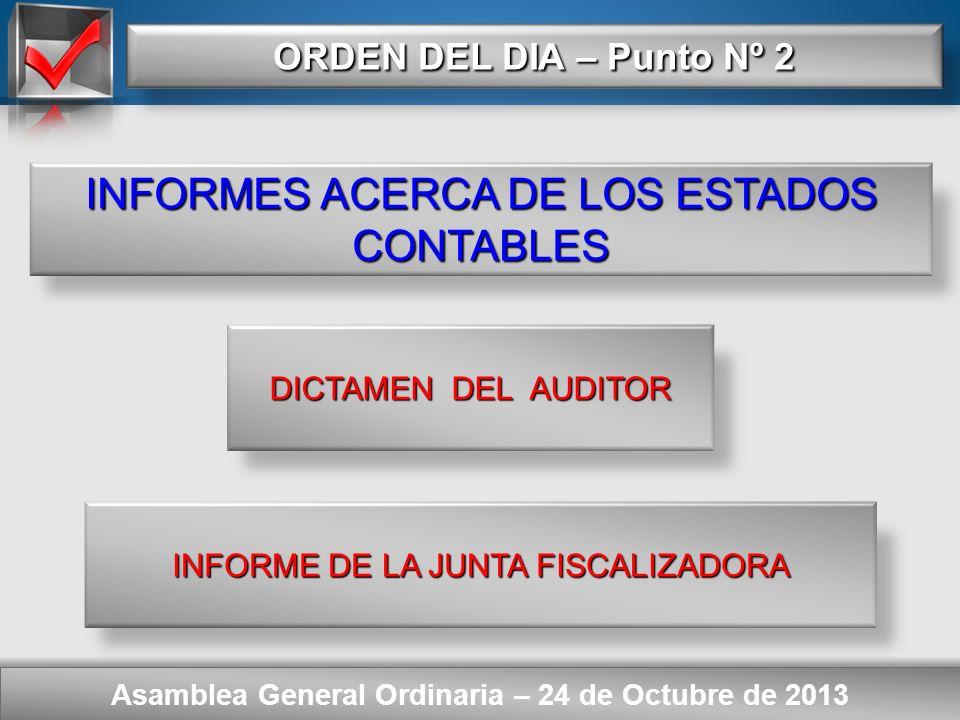 Here comes your footer SITUACIÓN PATRIMONIAL Asamblea General Ordinaria – 24 de Octubre de 2013 ESTADO DE EVOLUCIÓN DEL PATRIMONIO NETO CORRESPONDIENT