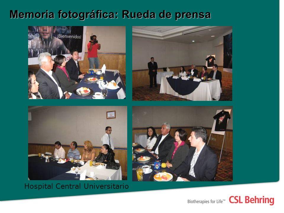 Memoria fotográfica: Rueda de prensa Hospital Central Universitario