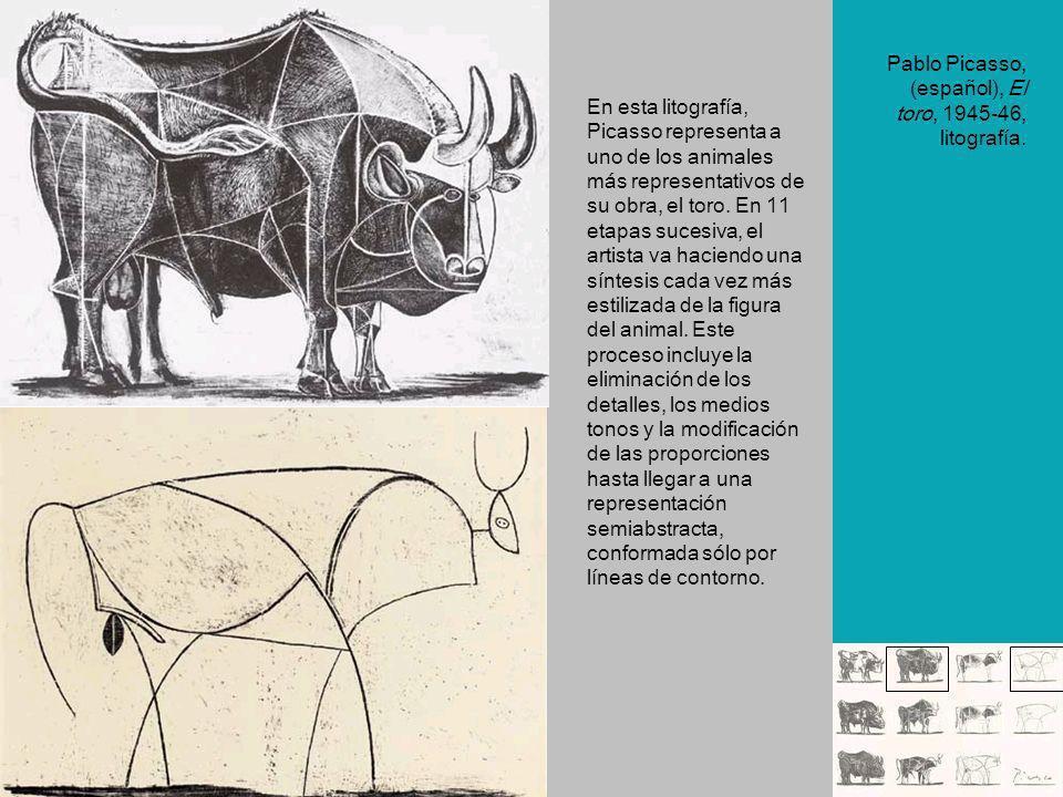 En esta litografía, Picasso representa a uno de los animales más representativos de su obra, el toro. En 11 etapas sucesiva, el artista va haciendo un
